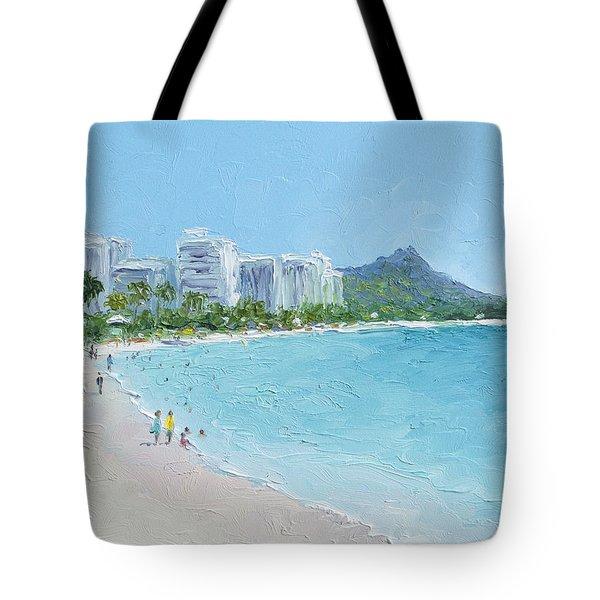 Waikiki Beach Honolulu Hawaii Tote Bag