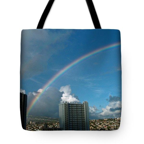 Waikiki Rainbow Tote Bag