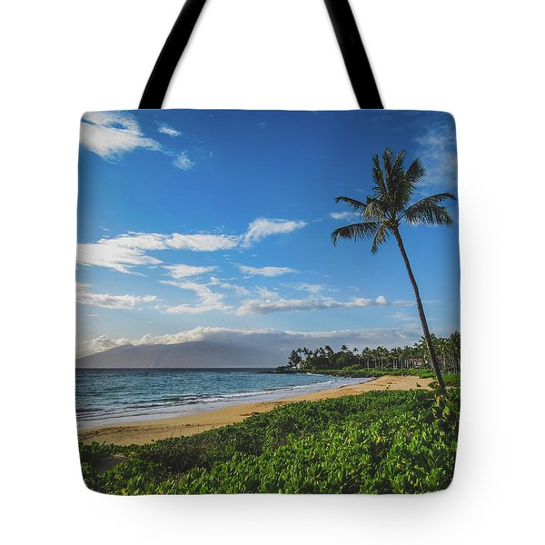 Tote Bag featuring the photograph Wailea Beach by Andy Konieczny