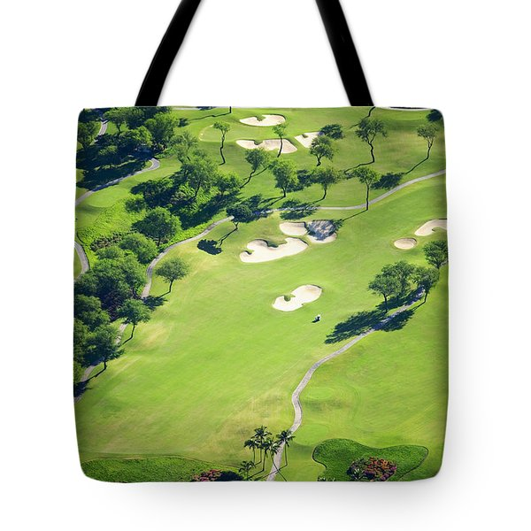 Wailea Gold And Emerald Courses Tote Bag by Ron Dahlquist - Printscapes