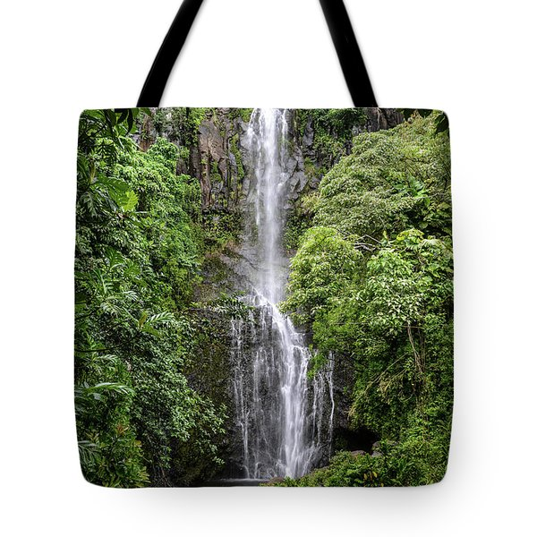 Wailua Falls On The Road To Hana, Maui, Hawaii Tote Bag
