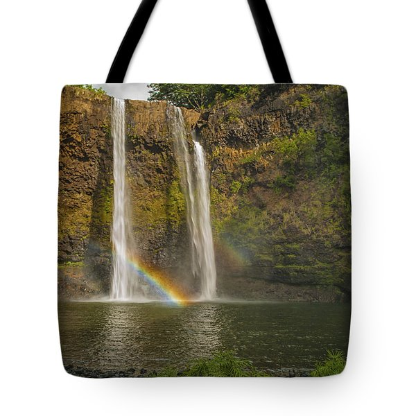 Wailua Falls Rainbow Tote Bag