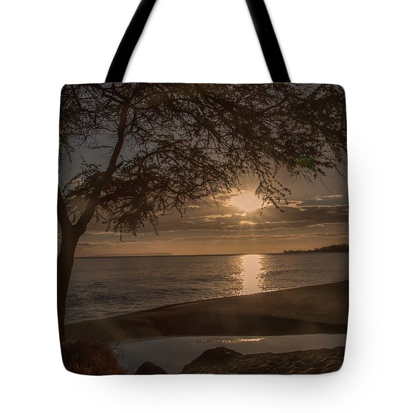 Tote Bag featuring the photograph Waimea Bay Sunset 4 by Teresa Wilson