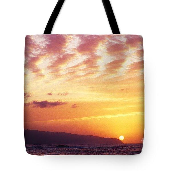 Waimea Bay Sunset Tote Bag by Bob Abraham - Printscapes