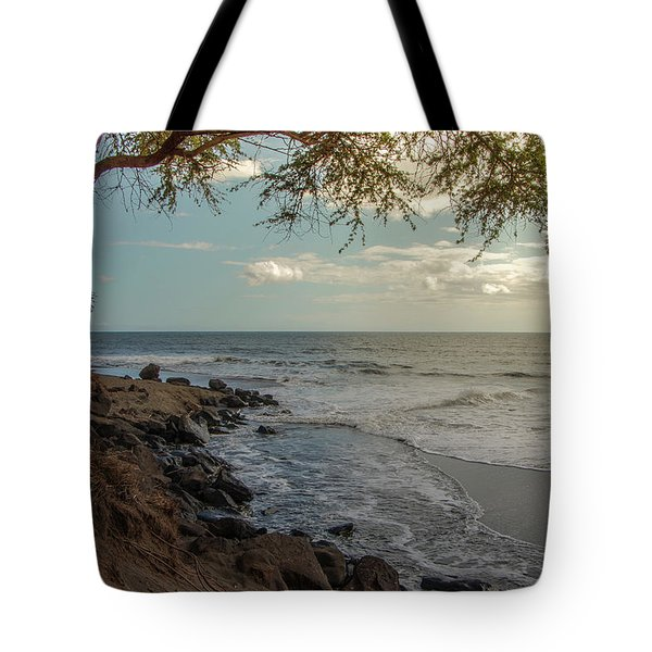 Tote Bag featuring the photograph Waimea Bay Sunset by Teresa Wilson