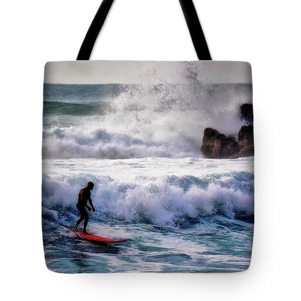 Waimea Bay Surfer Tote Bag