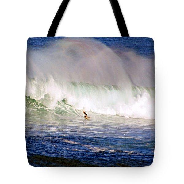 Waimea Bay Wave Tote Bag by Kevin Smith