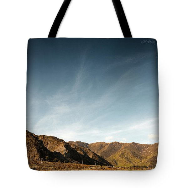 Wainui Hills Squared Tote Bag by Joseph Westrupp