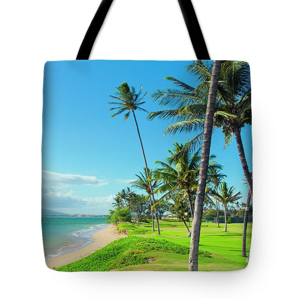 Tote Bag featuring the photograph Waipuilani Beach Kihei Maui Hawaii by Sharon Mau