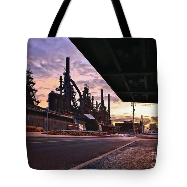 Tote Bag featuring the photograph Waitin' On The Bus by DJ Florek