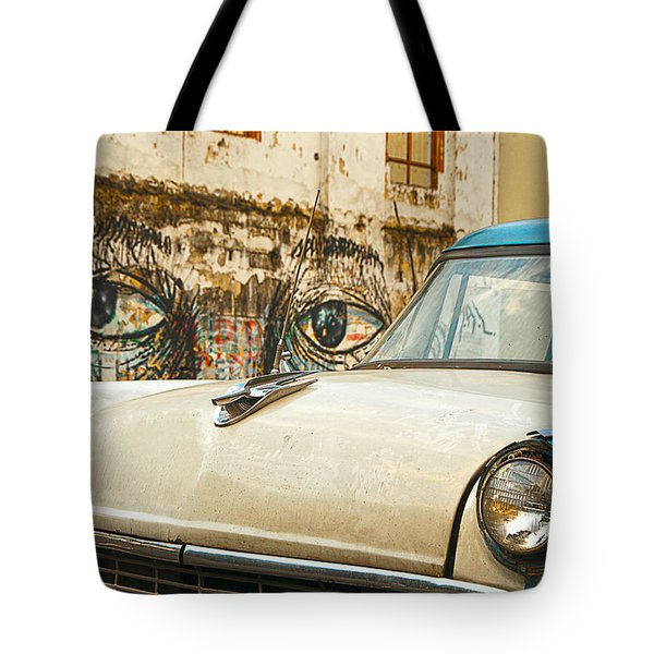 Waiting And Watching Tote Bag by Jess Kraft
