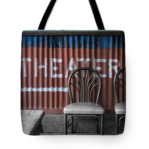 Corrugated Metal Theater Sign Tote Bag