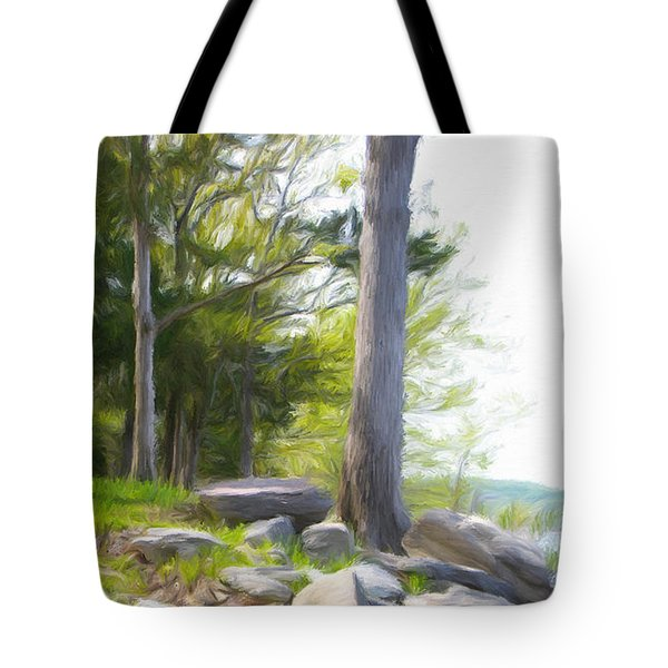 Tote Bag featuring the painting Waiting Ashore by Jeffrey Kolker