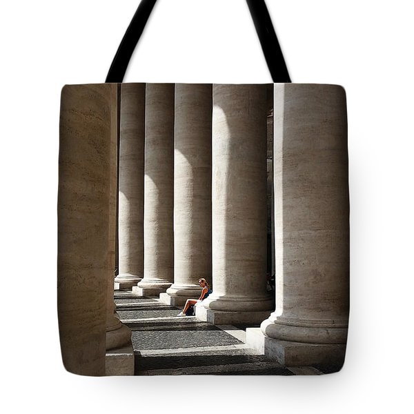 Tote Bag featuring the digital art Waiting At St Peter's by Julian Perry
