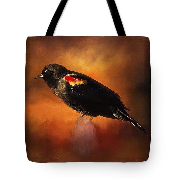 Waiting - Bird Art Tote Bag