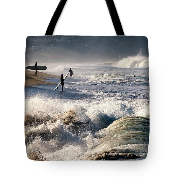 Tote Bag featuring the photograph Waiting By Mike-hope by Michael Hope