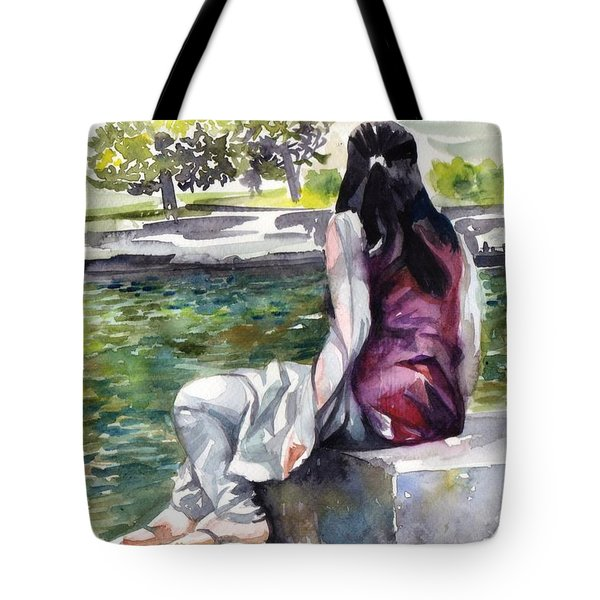 Waiting By The Pool Tote Bag