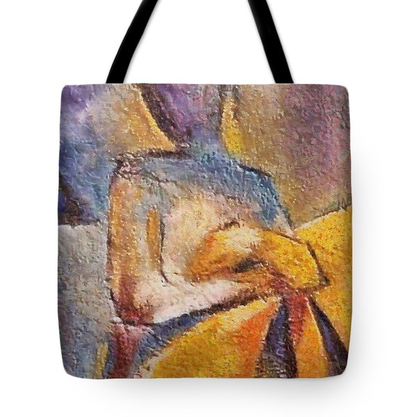 Tote Bag featuring the mixed media Waiting by Dragica  Micki Fortuna