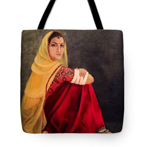 Tote Bag featuring the painting Waiting by Elizabeth Mundaden