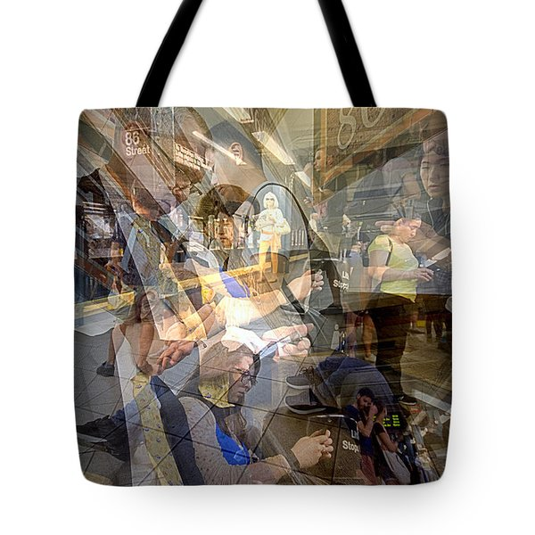 Waiting For 6 Train Collage Tote Bag