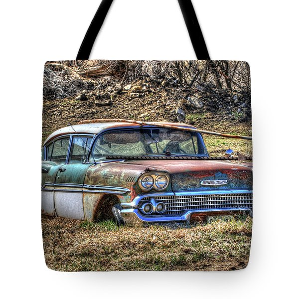 Waiting For A Tow Tote Bag