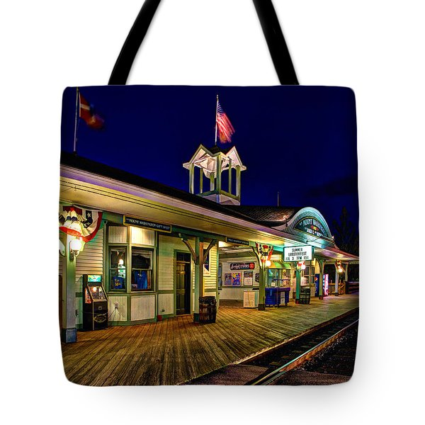 Waiting For A Train 023 Tote Bag