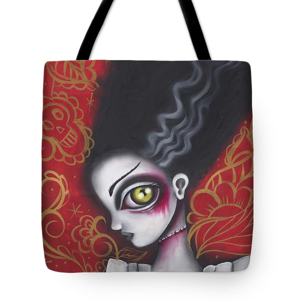 Waiting For  Frankenstein  Tote Bag by Abril Andrade Griffith