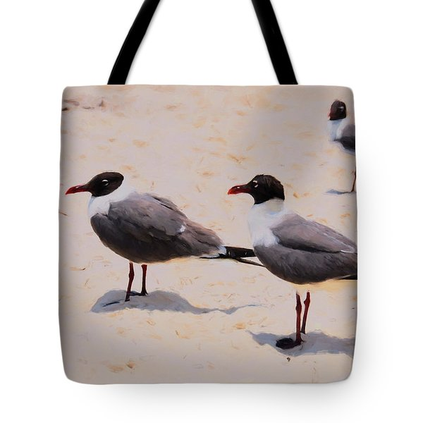 Tote Bag featuring the photograph Waiting For Handouts by Jan Amiss Photography