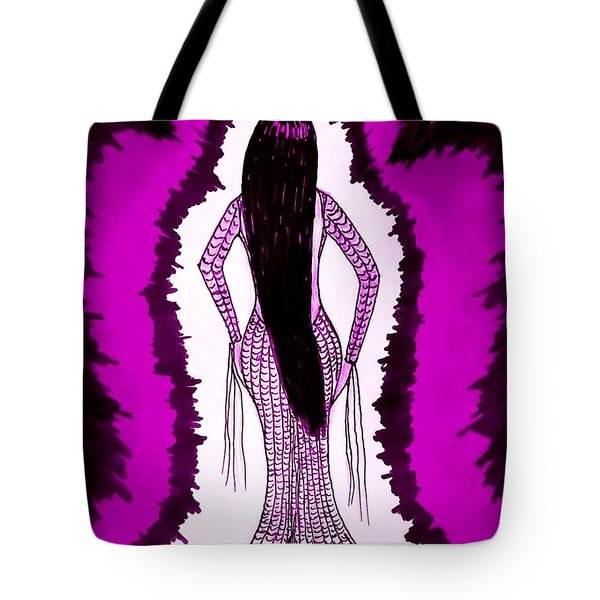 Waiting For Him In Purple Tote Bag