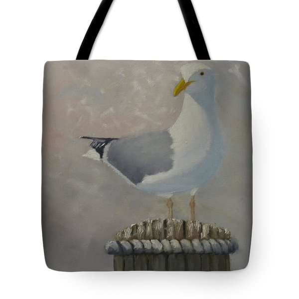 Waiting For Lunch Tote Bag