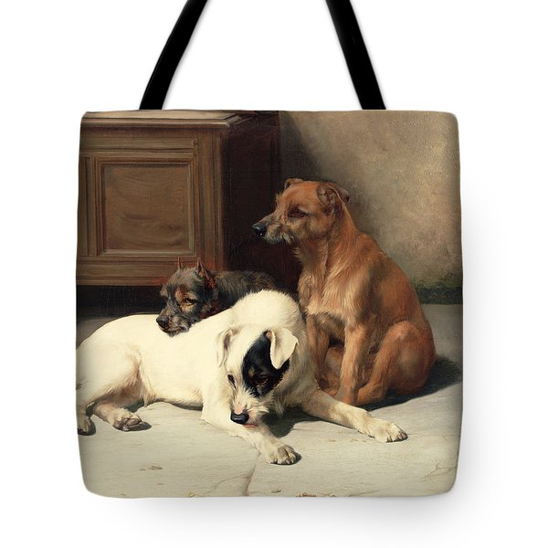 Waiting For Master Tote Bag by William Henry Hamilton Trood