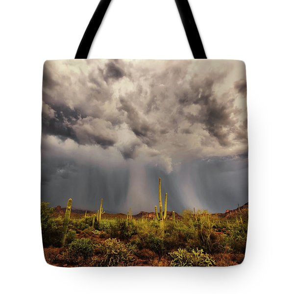 Waiting For Rain Tote Bag