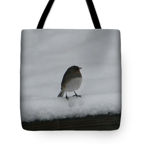 Tote Bag featuring the digital art Waiting For Spring by Barbara S Nickerson