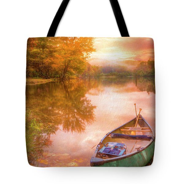 Waiting For The Dawn In Peach Tote Bag