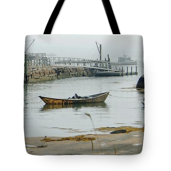 Waiting For The Fog To Lift Tote Bag