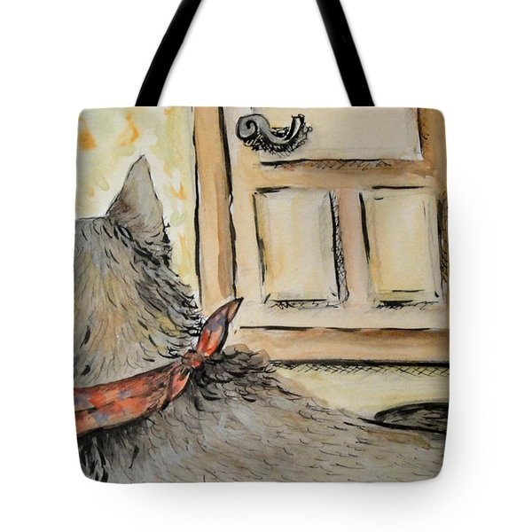 Waiting For The Humans Tote Bag