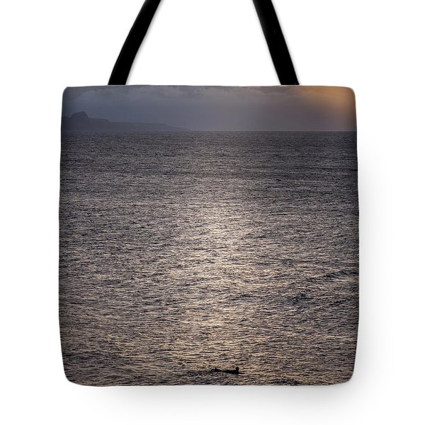Waiting For The Last Wave Of The Day Tote Bag
