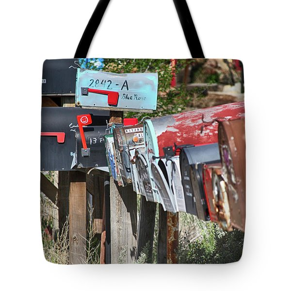 Tote Bag featuring the photograph Waiting For The Mail by Marie Leslie