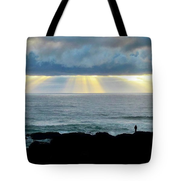 Waiting For The Rain. Tote Bag