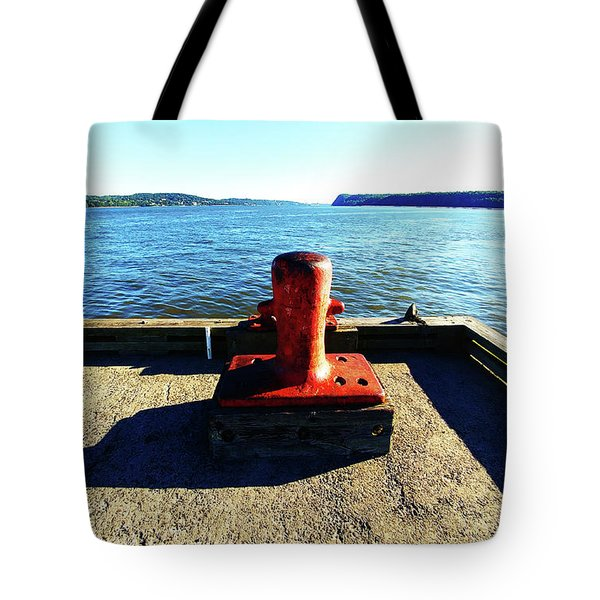 Waiting For The Ship To Come In. Tote Bag