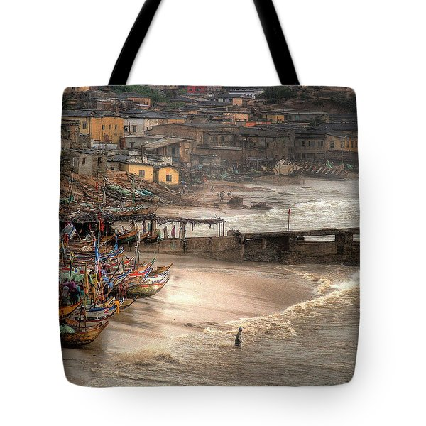 Waiting For The Stragglers Tote Bag