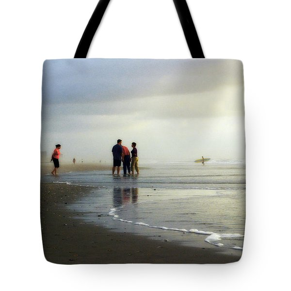 Tote Bag featuring the photograph Waiting For The Sun by Phil Mancuso