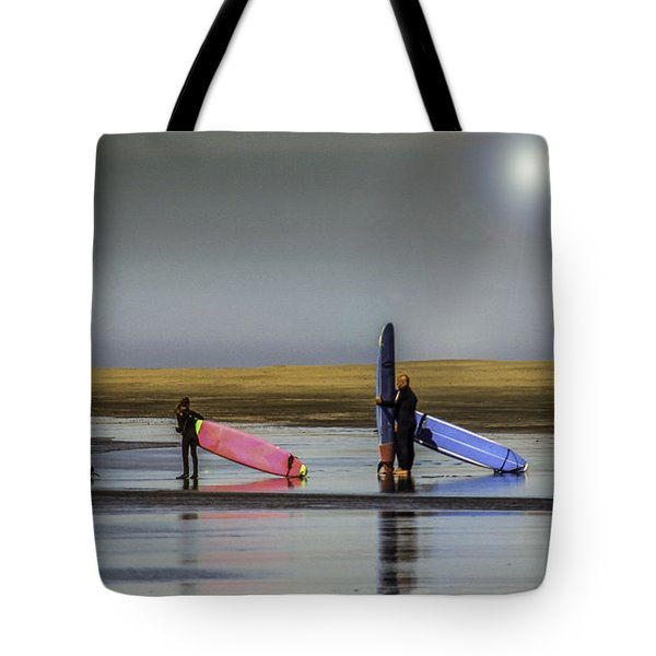 Waiting For The Surf Tote Bag
