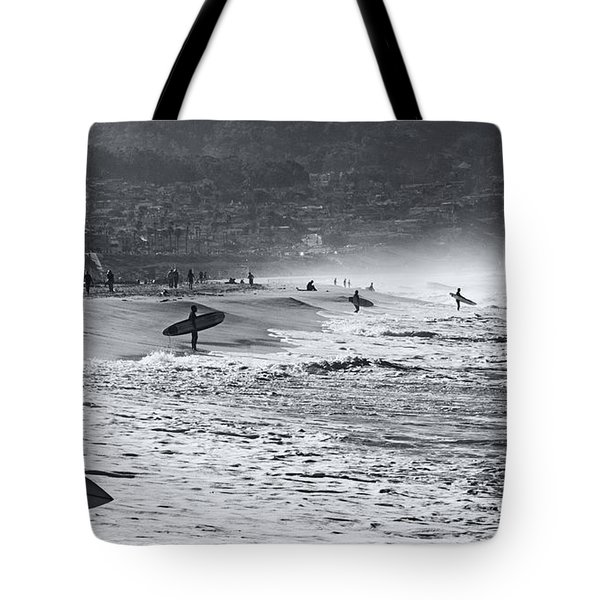 Tote Bag featuring the photograph Waiting For The Surf By Mike-hope by Michael Hope