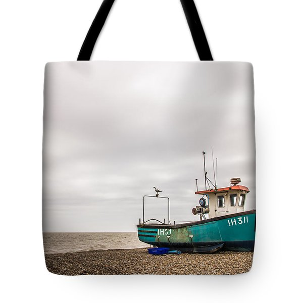 Waiting For The Tide Tote Bag by David Warrington