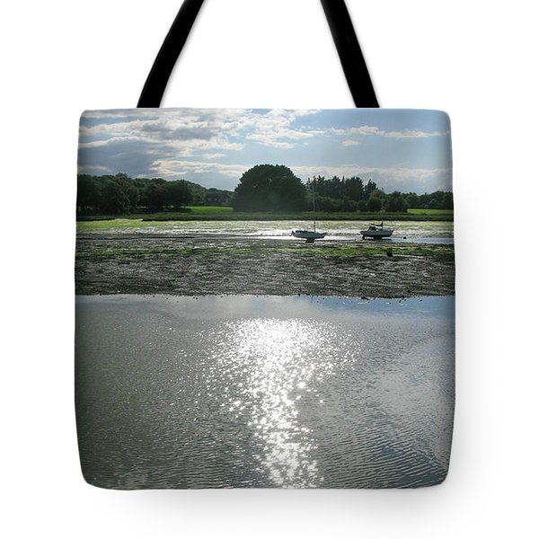 Waiting For The Tide Tote Bag by Maria Joy