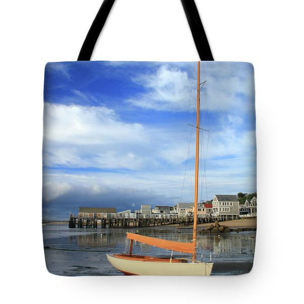 Waiting For The Tide Tote Bag by Roupen  Baker