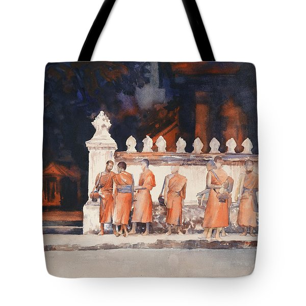 Waiting For The Walk- Morning Alms Tote Bag