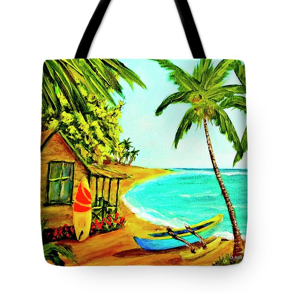 Waiting For The Waves Hawaii #387  Tote Bag by Donald k Hall