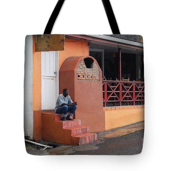 Tote Bag featuring the photograph Waiting by Gary Wonning
